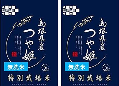 【無洗米】つや姫10kg(5kg×2袋)【減農薬特別栽培】島根県石見銀山【世界遺産の棚田米】
