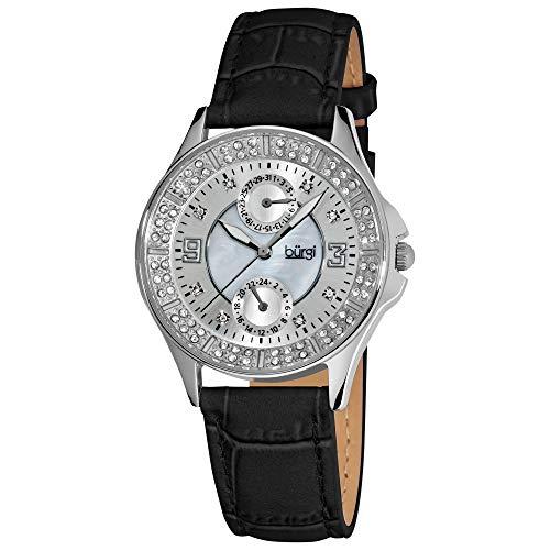 Burgi'da donna, in acciaio INOX, con data e GMT-Orologio da donna