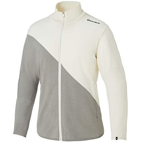 テーラーメイド(テーラーメイド) ウールブレンドセータージャケット KY864-V94354 (ホワイト×グレー/L/...