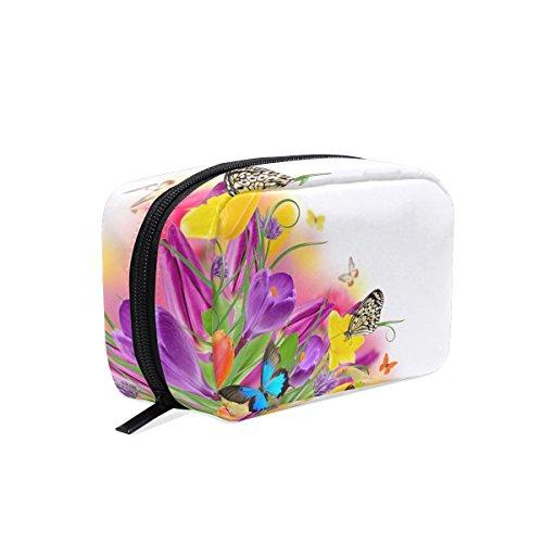 Dragonswordlinsu Coosun Fleurs jonquilles Papillons Cosmétique Pochette Maquillage Sac organiseur de voyage Coque Pochette de toilette pour femme