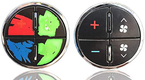 Vinyl Repair Decal Overlays For General Motors AC Button Controls - Easily Repair Your Worn GM A/C Buttons | Fits Most 2007 - 2014 Chevy Tahoe Gmc Yukon Buick Enclave Silverado Sierra Models AcButtons