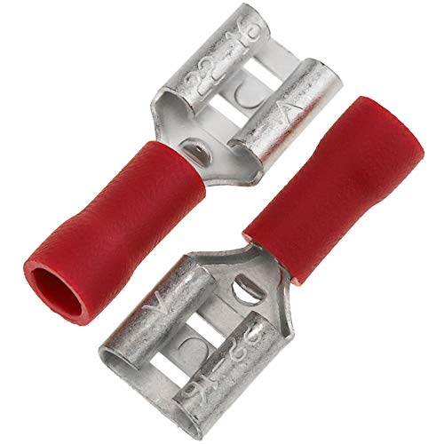Cablematic - Red terminale faston femmina (6,3 mm) 100 Pack