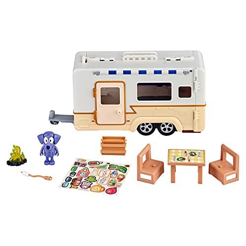 "Bluey Caravan Adventure Playset, with 2.5"" Jean Luc Figure"
