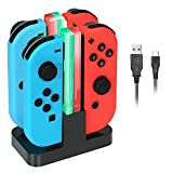 ReaLink 4 en 1 Chargeur Switch Manettes Joy-Con Charging Dock avec Indicateur LED