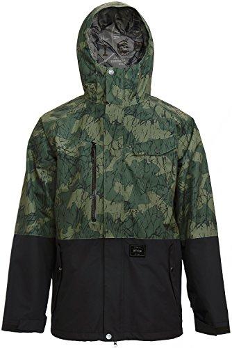 Atrip Herren Anchorage Snowboardjacke Jacke, Oliv schwarz, XL EU