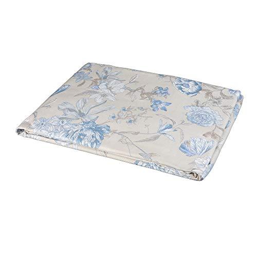 Zucchi Tagesdecke für Doppelbett, Easy Chic Floralia, 260 x 260 cm, Hellblau