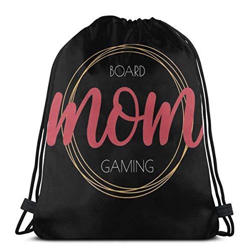 Almost-Okay-Shop Meine Mutter ist in Brettspiele Kordelzug Tasche Sport Fitn Tasche Reisetasche Geschenktüte