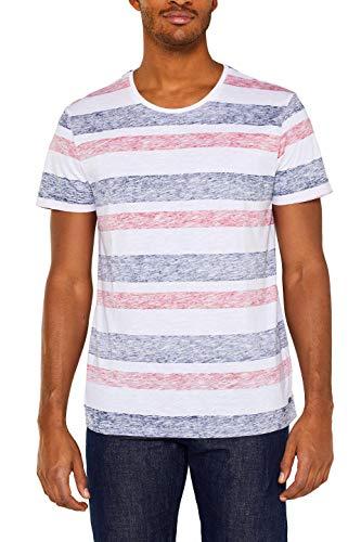 edc by ESPRIT Herren 049CC2K034 T-Shirt, Weiß (White 100), Medium (Herstellergröße: M)