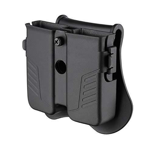 Double Magazine Holster, Universal Magazine Pouch, 9mm/.40/.45 Magazine Holder for Glock/Sig sauer/S&W/Beretta/Taurus/H&K Single Stack/Double Stack Magazines, Adjustable Paddle Mag Holder