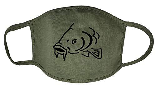 Darkwear Carp Fishing Carp Hunter Carp Father Fish Sports Fashion Mask Gr. One size, Carp Military Green FM