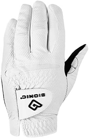 BIONIC Gloves Men s RELAXGRIP 2 0 Golf Glove White and Black S product image