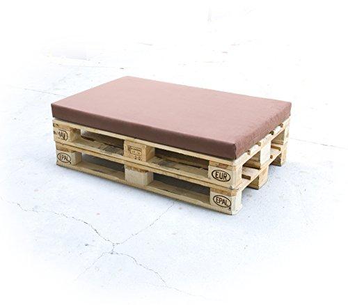 Rembourrage de palette pour meubles lounge et canapé en mousse RG 35 – Coussin d'assise 120 x 80 x 8 cm avec housse Airtex gris foncé
