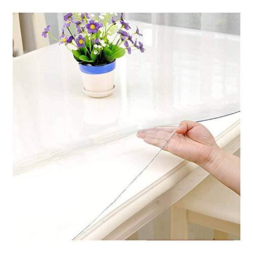 AGLZWY 1,0/1,5/2,0 Mm Transparent Bodenschutzmatte PVC Tischfolie Schutzfolie Folie Plastik Kratzfest Tischdecke Küche Kommode Fernsehschrank,Anpassbar (Color : Clear-1.0mm, Size : 180x250cm)
