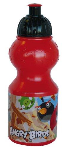 FUN HOUSE 004918 Angry Birds Gourde Sport pour Enfant, Plastique, Rouge, 6,5 x 6,5 x 17,6 cm