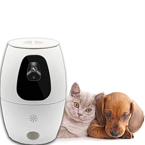 Alimentador Automático para Mascotas Alimentador De Comida Blanca WiFi Alimentador Inteligente para Mascotas Perro Gato Temporización Automática Monitoreo Remoto para Gatos Y Perros Dispensador De Al
