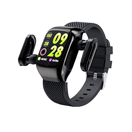 LC.IMEEKE 2 in 1 Smartwatch mit Kabellosen Bluetooth Kopfhörer, Fitness Armband mit Pulsmesser Fitness Tracker Fitnessuhr Aktivitätstracker Sportuhr Pulsuhr Schrittzähler für Kinder Damen Herren