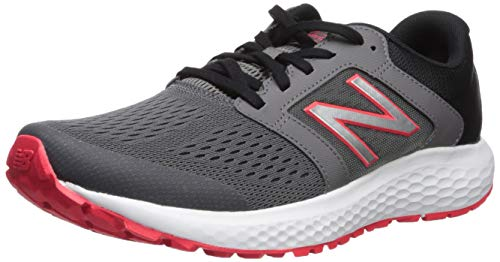 New Balance Men's 520v5 Cushioning Running Shoe, Castlerock/Energy red/Black, 16 4E US