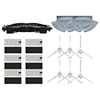 15ピースメインブラシロールブラシサイドブラシモップ布HEPAフィルター360 S6ロボット掃除機のスペアパーツアクセサリー 掃除機部品