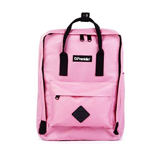 D. Franklin Unisex Erwachsene Backpack Rucksack, Pink, 16x36x27 cm