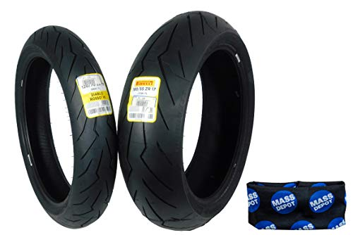 Pirelli Diablo Rosso III Front & Rear Street Sport Motorcycle Tires Rosso Three Rosso 3 (120/70ZR17 180/55ZR17)