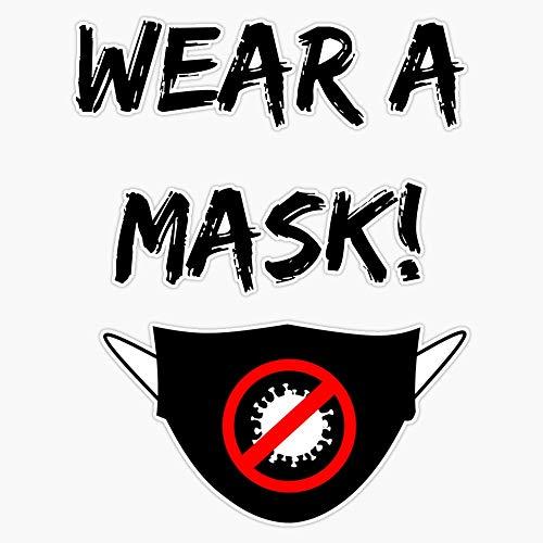 Wear A Mask Coronavirus Sticker Decal Vinyl Bumper Sticker 5'