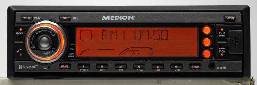 Medion Life P62004 Autoradio (CD-/MP3-Player, UKW-/MW-Tuner, Kartenslots, Bluetooth, USB 2.0) schwarz/rot