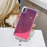 XLSJK Carcasa de Telefono Neon Sand Liquid Case Quicksand Funda Trasera Luminous Sand Liquid Capinha Funda para iPhone XS MAX XR XS 6 6S 7 8 Plus Fundas para teléfonos