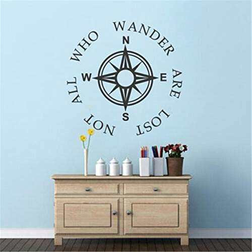 autocollant mural stickers muraux 3d Compass Inspiration Saying Nursery Baby Bedroom Decor pour salon pour chambre d'enfants chambre d'enfant