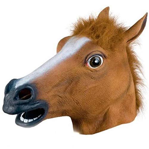 Aiyrchin Cabeza de Caballo mscara mscaras Animales Divertidas Horsehead Mscara Coleccin de Halloween Disfraz de Animal de Cosplay 1PC