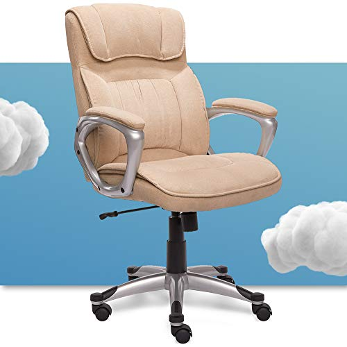 Serta Hannah Executive Office Chair, Fawn Tan