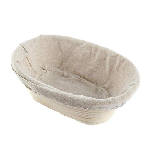 DMAI Verschiedene Formen der Gärung Rattankorb Brot Französischer Brotteigkorb Backteigkorb Backvorratskorb, 28x14x8
