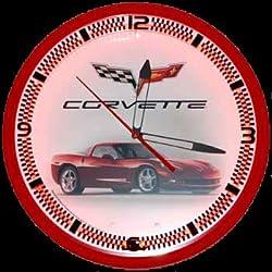 Garage Art Corvette C6 Neon Clock