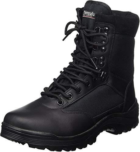 Botas SWAT de color negro, hombre, negro, 13