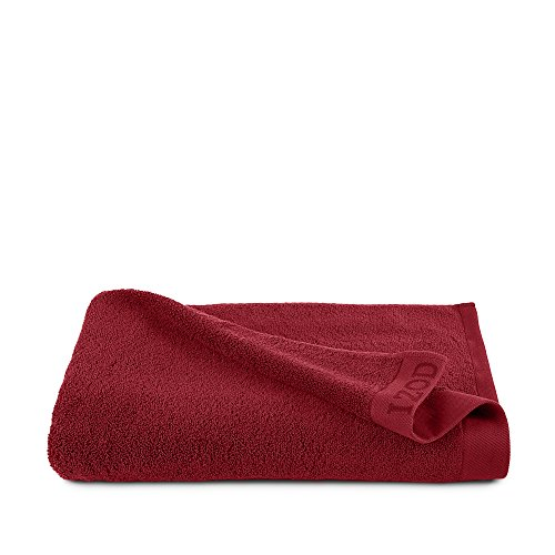 CLASSIC EGYPTIAN COTTON BODY SHEET BY IZOD - Premium, Soft, Absorbent - Sport, Home - Machine Washable - Pompei Red