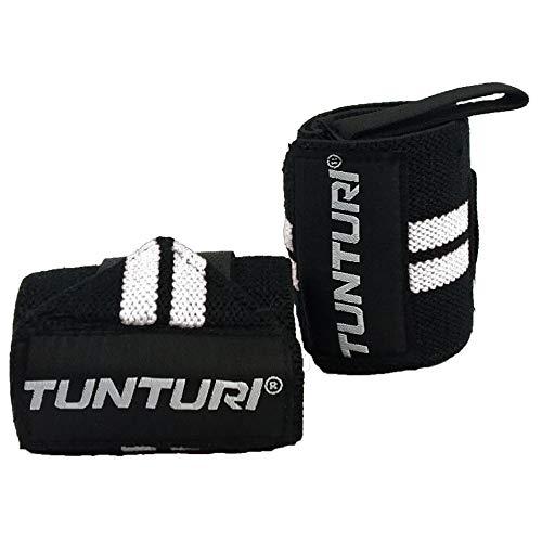 Tunturi - Protector de muñeca para pulseras unisex (2 unidades), color negro y blanco
