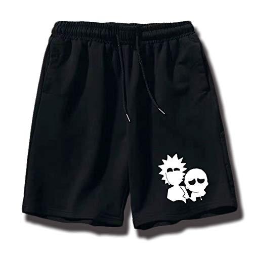 GRTBNH Sommer Anime Print Badehose Rick und Morty Cotton Beach Pants Herren Fashion Shorts mit Taschen,Style 6,S