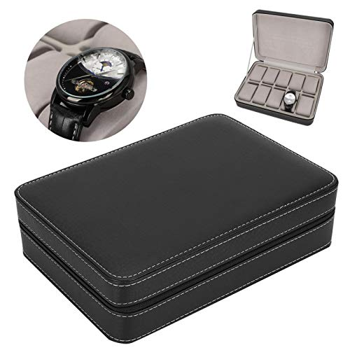 Emoshayoga Caja para relojes de 11 x 7,9 x 3 pulgadas, piel...