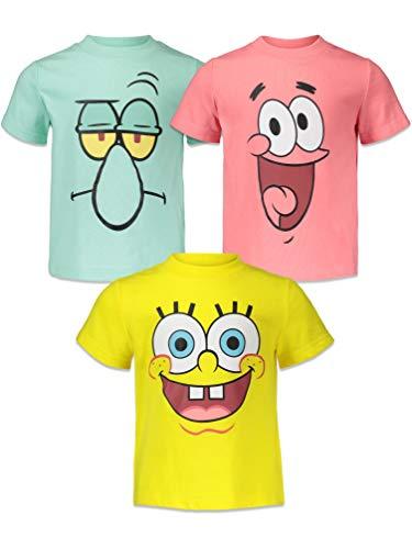 Nickelodeon Bob Esponja Squarepants - Pack de 3 camisetas de manga corta - - 3 aos