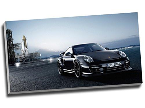 Sportwagenkunstdruck auf Leinwand, Motiv Porsche 911 Gt2 Rs, Wandobjekt, Bild, 76,2 cm x 40,6 cm