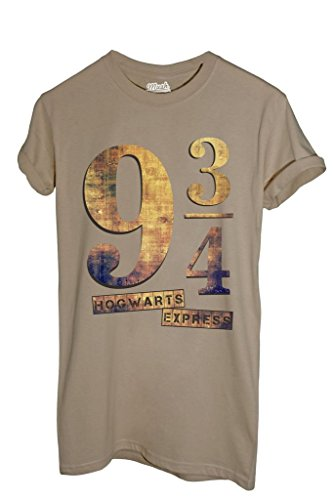 MUSH T-Shirt Platform 9¾ Hogwarts Express Harry Potter - Film by Dress Your Style - Herren-XXL-Beige