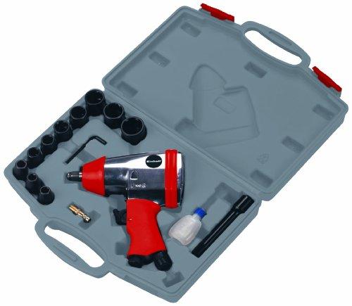 Einhell Druckluft-Schlagschrauber DSS 260/2 (6,3bar max., Alu-Druckguss Gehäuse, 4-f. Schlagmoment, inkl. 11-tlg. Steckschlüsselset & Transportkoffer)