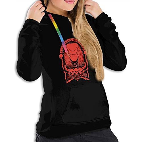 Predator Skull Collector - Sudadera ligera con capucha para mujer, color negro