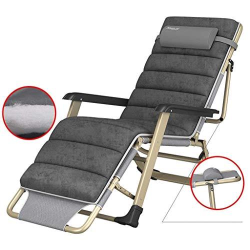 QGL-HQ Meubles de patio inclinables avec des coussins for les gens lourds, Plage extérieure Pelouse Chaise de camping Portable, 260 kg