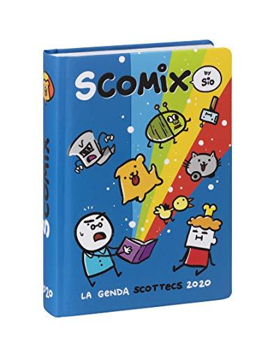 Comix Scottecs by Sio Diario 2019/2020 datato 16 mesi, formato Medium, azzurro