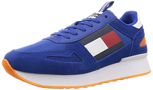 Tommy Hilfiger Tommy Jeans Lifestyle Runner, Zapatillas para Hombre, Azul (Cobalt C65), 40 EU
