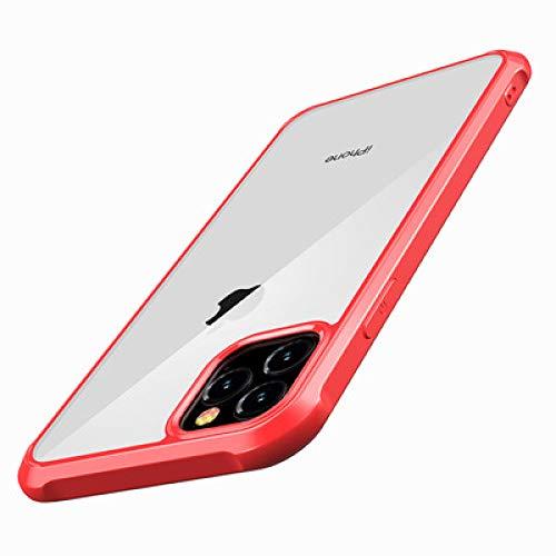 SJKDM telefoonhoesje Voor iphone 11 mobiele telefoon behuizingen nieuwe appel acryl beschermende hoes pc tpu harde schaal zachte kant 2019 voor iphone telefoonhoesje For iphone 11 5.8lh Rood