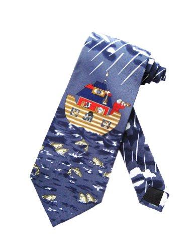 Parquet Mens Noah's Ark Old Testament Necktie - Blue - One Size Neck Tie