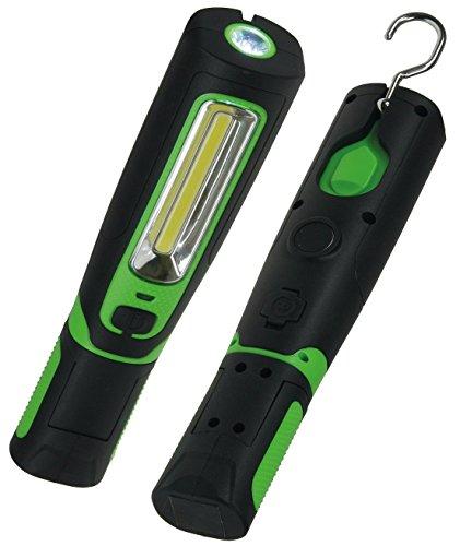 LED Arbeitsleuchte mit Magnet-Halter 360 Lumen IP44 Akku inkl. 12V und 230V Ladegerät Gummi Beschichtung