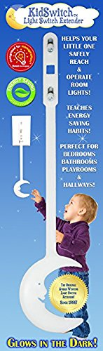 KidSwitch Award-Winning Light Switch Extender for Children, Toddlers & Adults (1 Pack Original Style)
