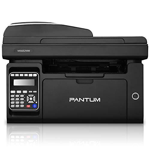 Pantum Stampante Laser Multifunzione Monocromatica, Stampa, Scannerizza, fax, Fotocopia, Wi-Fi, Wi-Fi Direct, ADF (Nero, M6600NW)